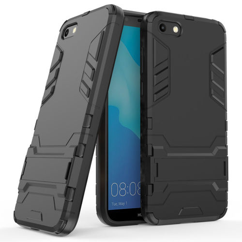 Slim Armour Tough Shockproof Case for Huawei Y5 (2018) - Black